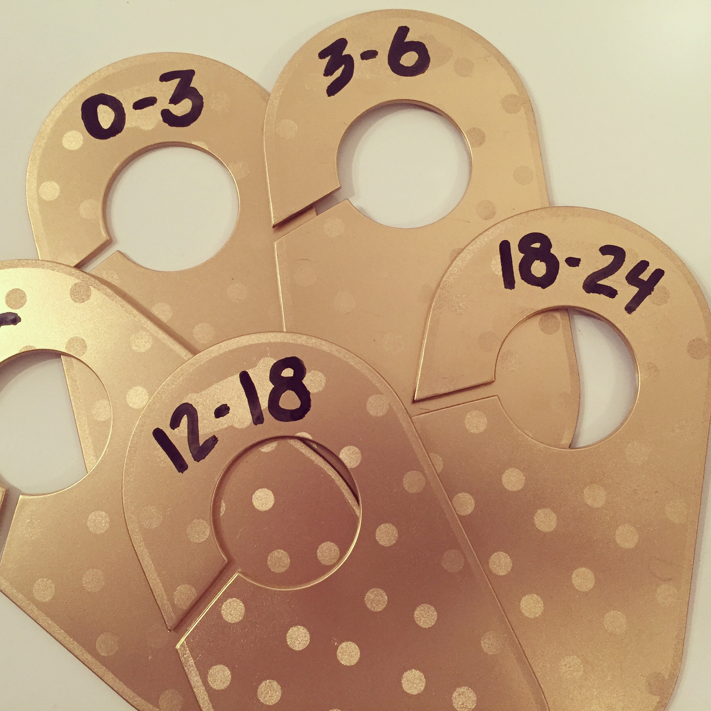 Modern Baby Closet Dividers in Gold by Jace